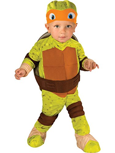 Nickelodeon Ninja Turtles Michelangelo Romper Shell and Headpiece, Green, Toddler(12-24 Months) ()