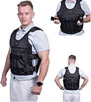 HunterBee Weighted Vest Adjustable Weighted Vest Jacket Training Exercise Jogging Fitness Workouts Weight Vest