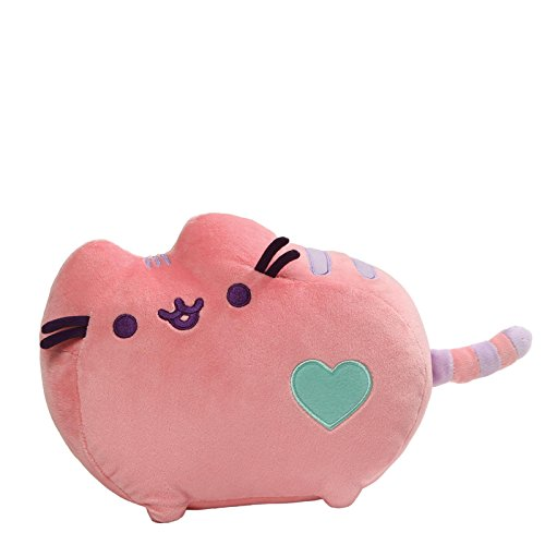 (GUND Pusheen Heart Pastel Cat Plush Stuffed Animal, Pink, 12