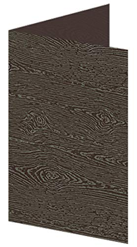 Amazon Com Blank Fold Invitation Card A9 Wood Grain