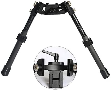 Image of the Spina Optics bipod in black color on a white background.