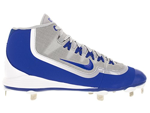 Nike Mens Huarache 2KFilth Pro Mid Baseball Cleat Wolf Grey/Game Royal/White
