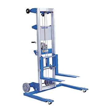 "Genie Lift, GL- 4, Straddle Base Heavy-Duty Aluminum Manual Lift, 500 lbs Load Capacity, Lift Height 5' 11"" from Ground Level"