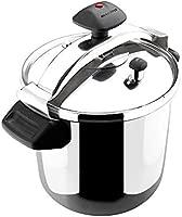 MAGEFESA INOXTAR Olla a presión rápida, Acero Inoxidable 18/10, Apta para Todo Tipo de cocinas, Incluido inducción 10L