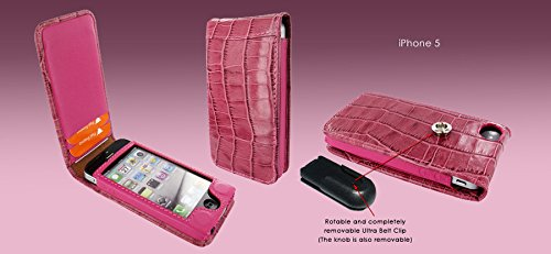 Piel Frama 595 Pink Crocodile Magnetic Leather Case for Apple iPhone 5 / 5S / SE