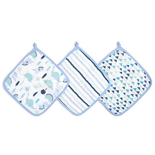 aden by aden + anais washcloth set 3 pack, dinos