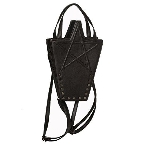 Banned Karma Faux Handbag Witch Kitsch Leather Black Pentagram Goth 446qpAZ