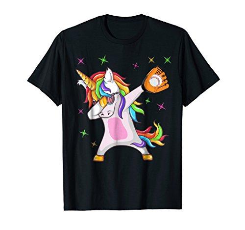 Dabbing Unicorn baseball T-Shirt Funny Dab Gift