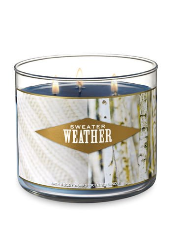 Amazoncom Bath Body Works 3 Wick Scented Candle In Sweater