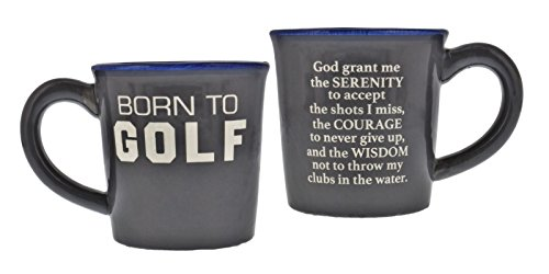 Born to Golf/Golfer's Prayer Lightweight Coffee Mug, 14oz, Perfect Gift for the Golfer in your Life, Dad, Friends, Boss & More