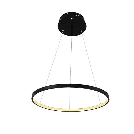 1 anillo de lámpara colgante LED lámpara de techo moderna iluminación salón comedor
