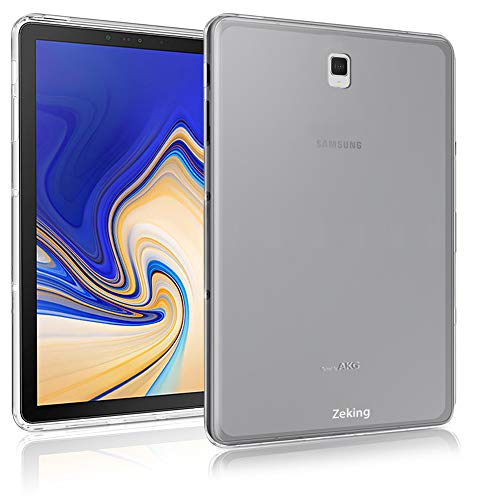 Samsung Galaxy Tab S4 (10.5 inch) T835 T830 Case, Zeking Ultra Slim Thin Anti-Scratch TPU Rubber Soft Skin Silicone Premium Protective Case Cover for Samsung Galaxy Tab S4 (10.5 inch) (Transparent)