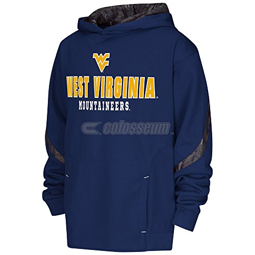 Youth West Virginia Mountaineers Cutter Embroidered Synthetic Hoodie Sweatshirt (L=14-16) ()