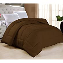 "Swift Home All-season Extra Soft Luxurious Classic Light-Warmth Goose Down-Alternative Comforter, King 104"" x 90"", Chocolate"