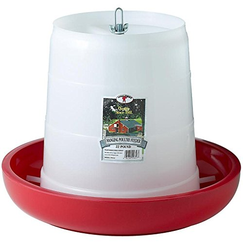 Miller Manufacturing PHF22 22-Pound Plastic Hanging Feeder, Red