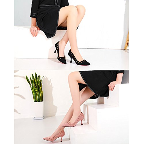 Moda I La Lavoro Alti Tacchi 36 Taglia Casual Bene Wenjun Con colori Nero Scarpe Rosa Ha Selvatico Coreano Professionale Femminili Allievi wqPx17A