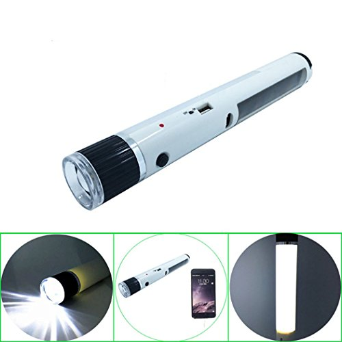 1w solar led flashlights solar tent light white light - 6