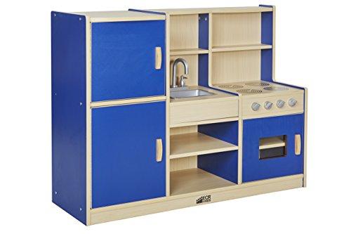 ECR4Kids Colorful Essentials 4-in-1 Play Kitchen (1 Play Kitchen)
