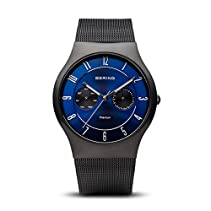 BERING Time Men's Classic Collection Watch with Mesh Band and scratch resistant sapphire crystal. Designed in Denmark. 11939-078