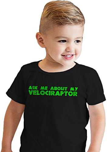Toddler Ask Me About My Raptor Cool Dinosaur Flip T shirt fo