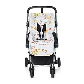 JANE 080270SL T19 - Colchoneta para sillas de paseo, unisex, color blanco estampado