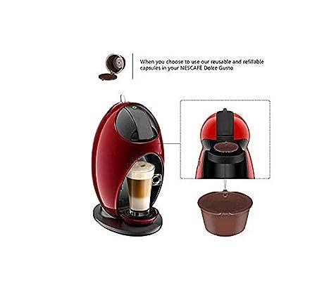 Louriewoeety Cápsulas Recargables con Filtro para cafetera ...
