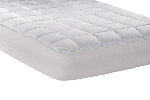 PROCAVE Micro-Comfort Matratzen-Bett-Schoner weiß 90x200 cm mit Spannumrandung | Höhe bis 30cm | Auch für Boxspring-Betten und Wasser-Betten geeignet | Microfaser | 100% Polyester | Matratzen-Auflage