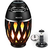 good looking design ideas deck patio NULED Flame Speaker w. LED Atmosphere IP65 Waterproof 3600mAh Lithium Batteries Magnetic Base & Wall Mount Kit for Indoor/Outdoor Activities, Bluetooth Pair 2 for Stereo Sound