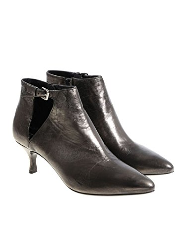 Strategia Women's PE4927FUCILE Grey Leather Ankle Boots gkRIy