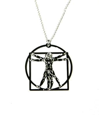 Vitruvian man necklace leonardo da vinci necklace art necklace vitruvian man necklace leonardo da vinci necklace art necklace aloadofball Images