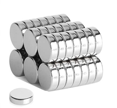 Round Refrigerator Magnets,30PCS 10X3MM Small Cylinder Magne