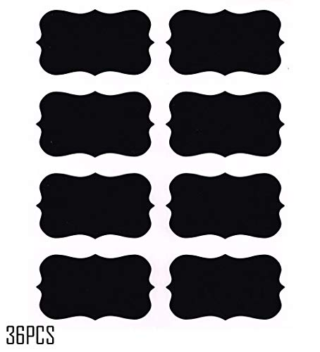 Chalkboard Labels,Fashionclubs Reusable Blackboard Stickers for the Kitchen, Pantry, Mason Jars, Wine Glasses 36PCS from Fashionclubs