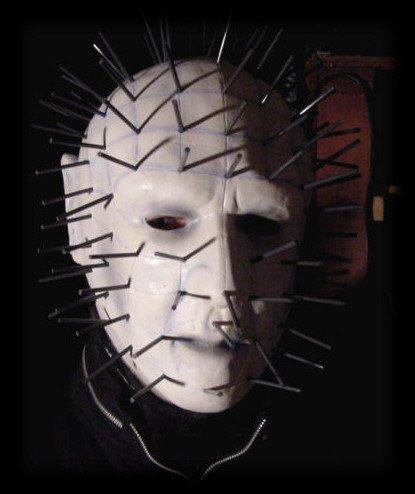 [Hellraiser Pinhead Mask] (Hellraiser Woman Costume)