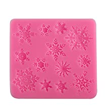 Asreal Decor 3D Christmas Decor Snowflake Lace Chocolate Party DIY Fondant Baking Cooking Cake Decorating Tools Silicone Mold 9.5*8.7*1cm
