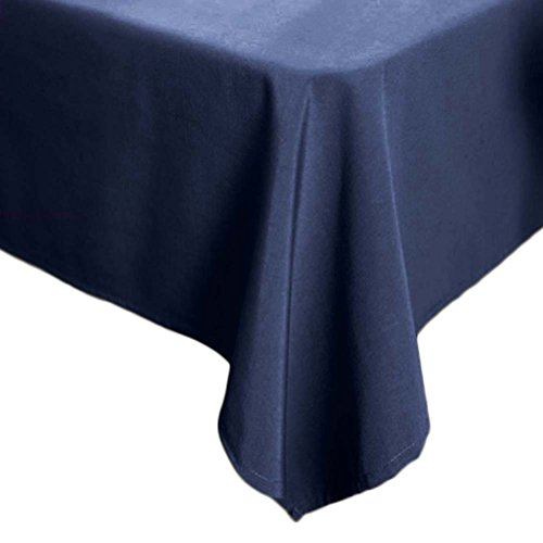 Topmodehome Classic Solid Color Tablecloth Rectangularfor End Table/Dining Table/Desks (55''x70'', navy) ()