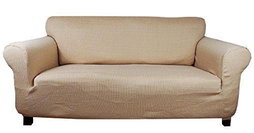Stretch husse (beige-creme) Sofabezug für sofa 3 sitzer - sofahusse