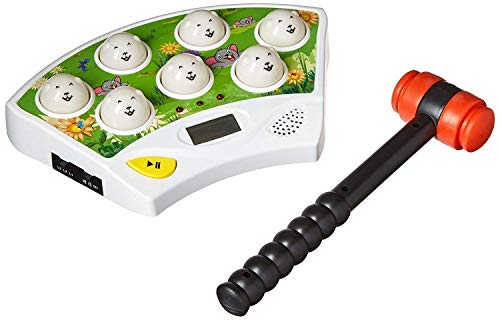 CatchStar Wack A Mole Mouse Fast Reflexes Whack A Mole Game Language Learning Durable Musical Whac Wackamole Educational Toys for Kids White