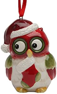 Cosmos Gifts 10905 Holiday Owl Ornament, 2-3/4-Inch