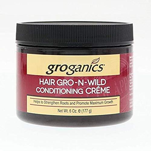 Groganics Hair Gro-N-Wild Conditioning Creme 6 oz