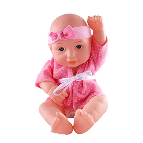 Antique Porcelain Dolls Arms (Doll toy, Yamally_9R Music Soft Body Baby Doll Reborn Lifelike Newborn Girl Handmade Silicone Gift (Pink))