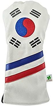 Foretra - Limited Edition Korea Flag Driver Head Cover - Tour Quality Golf Club Cover - Style and Customize Yo