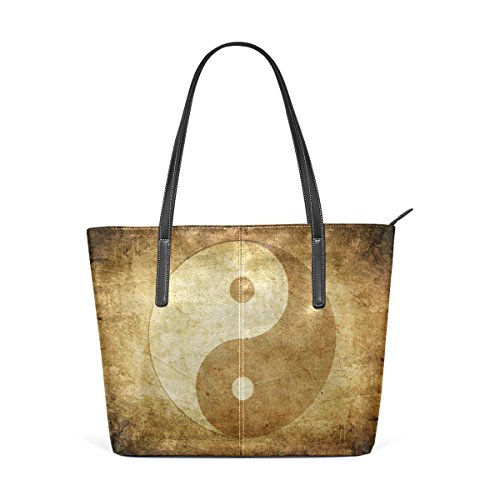 Coosun Yin Yang Pu Leather Handbag Bags Purse And Tote Bag For Women Means Muticolour