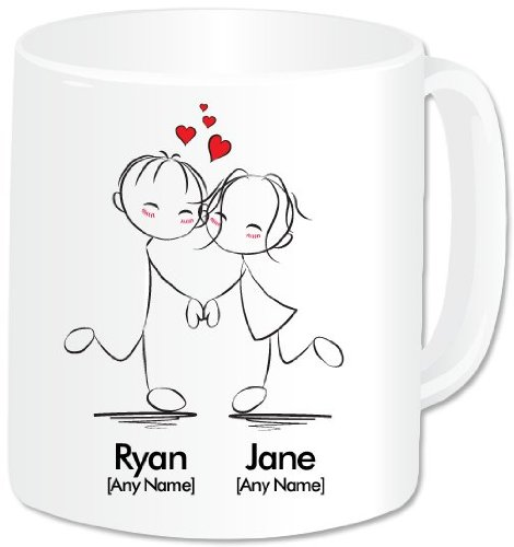 Bien connu GoPersonalised Mug personnalisé – I Love You – Couple dansant avec  HF45
