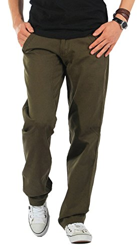 Chartou Men's Active Elastic-Waist Loose Fit Cargo Pants Trousers (X-Large, Armygreen-Thick) (Where To Buy A Closet)