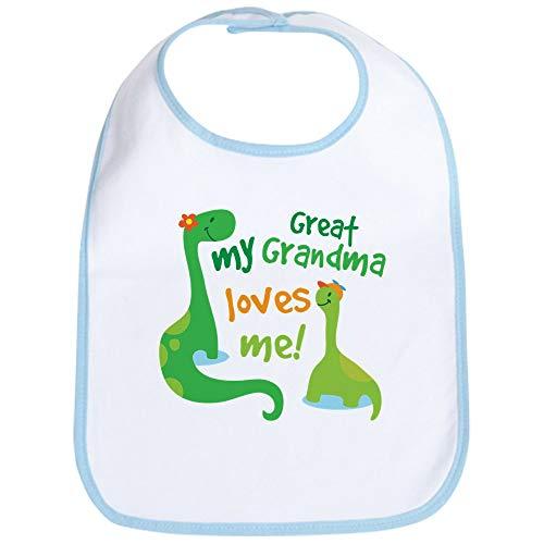 (CafePress My Great Grandma Loves Me Bib Cute Cloth Baby Bib, Toddler Bib)