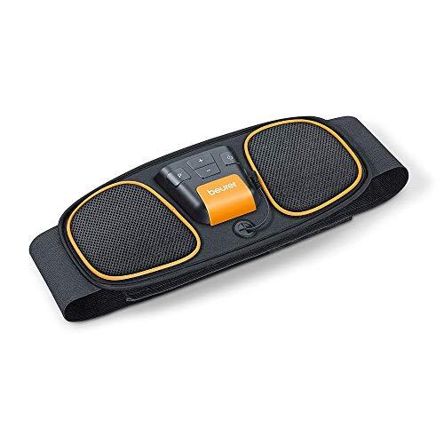 Beurer EM 32 buikspierriem, voor spierstimulatie, EMS-buiktraining, 2 slijtvaste carbon-elektroden