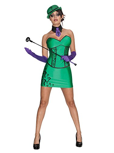 Secret Wishes DC Comics Super Villain Riddler Costume, Green, Small