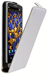 mumbi - Funda con tapa para smartphone de LG LG G3 weiss blanco
