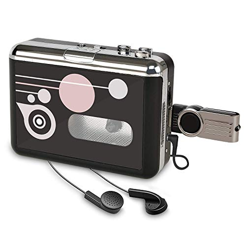 Rybozen Cassette Player, Portable Converter Recorder Convert Tapes to Digital MP3 Save into USB Flash Drive/No PC Required