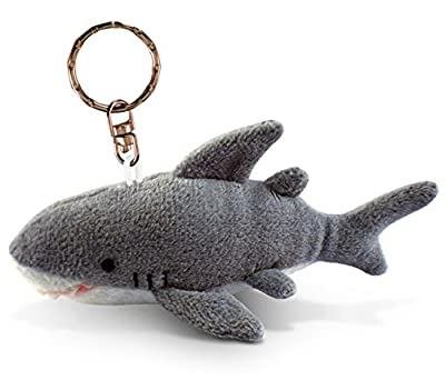 Puzzled Shark Plush Keychain